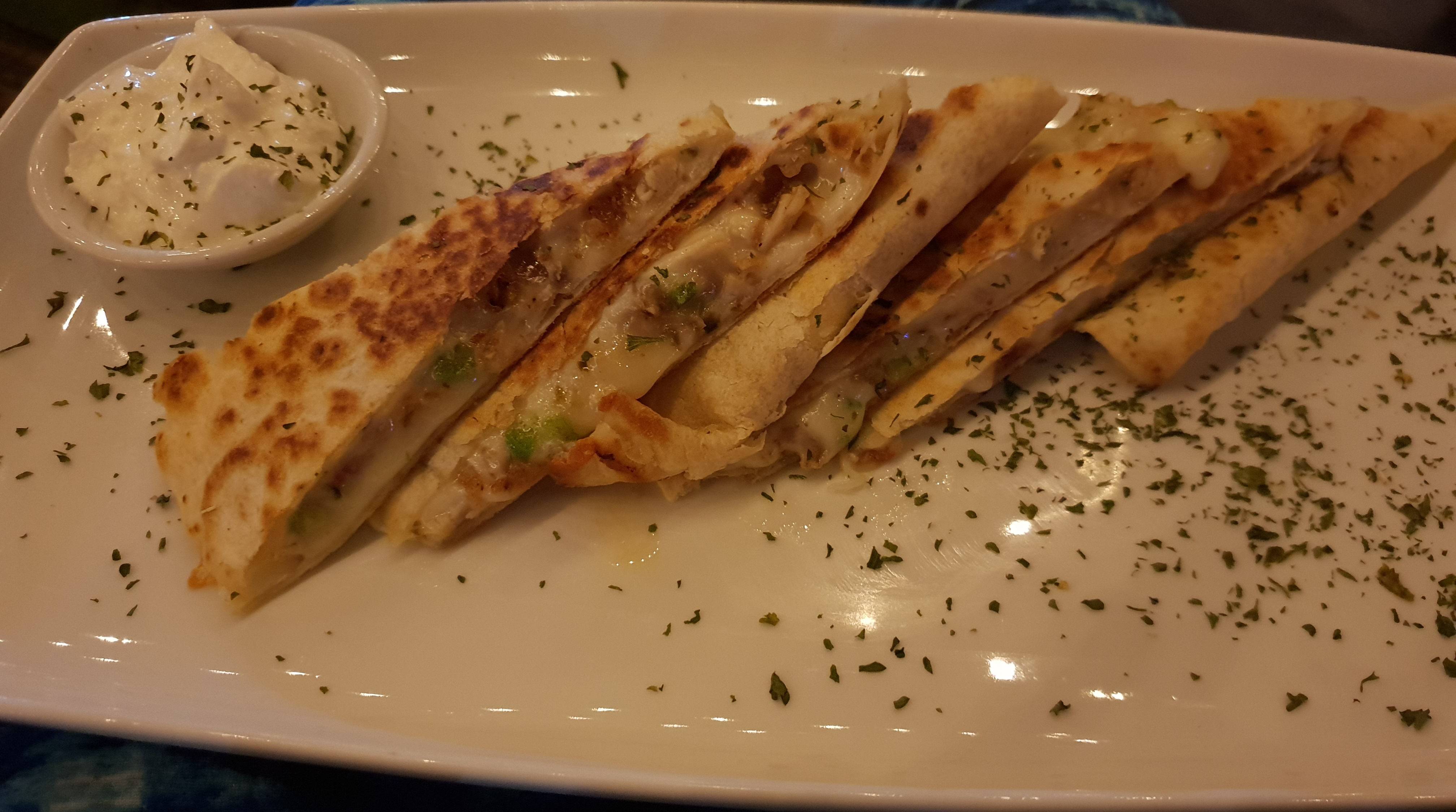 Chicken and Cheese Quesadillas from The Haven