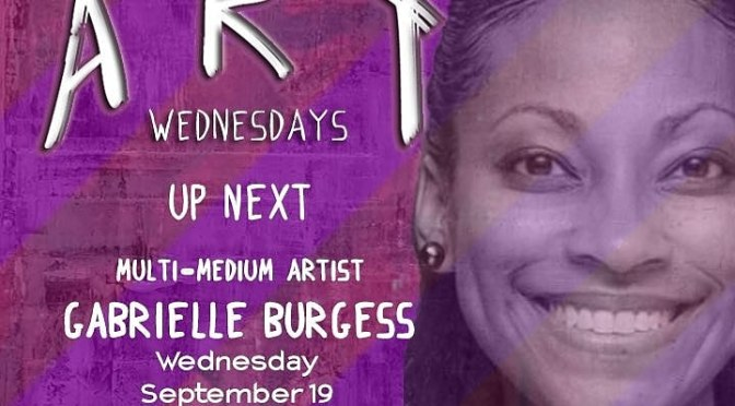 Suga a.k.a Gabby will be the Featured Artist at Art Wednesdays, Reggae Mill TODAY!