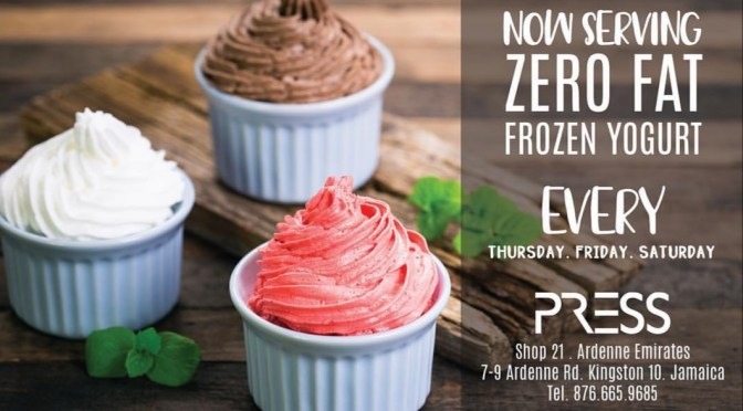TGIF to Zero Fat Frozen Yogurt at PRESS!