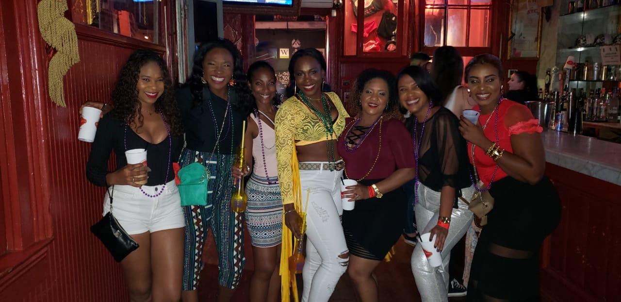 hit Channing Tatum's Saints & Sinners Bar on Bourbon Street for their Girls Trip in NOLA! (October 2018) #JamaicansinNOLA