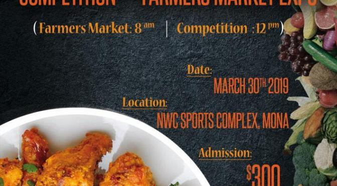 CHAMPS, Wing Sauce Competition & Farmer's Market This Saturday in Mona!
