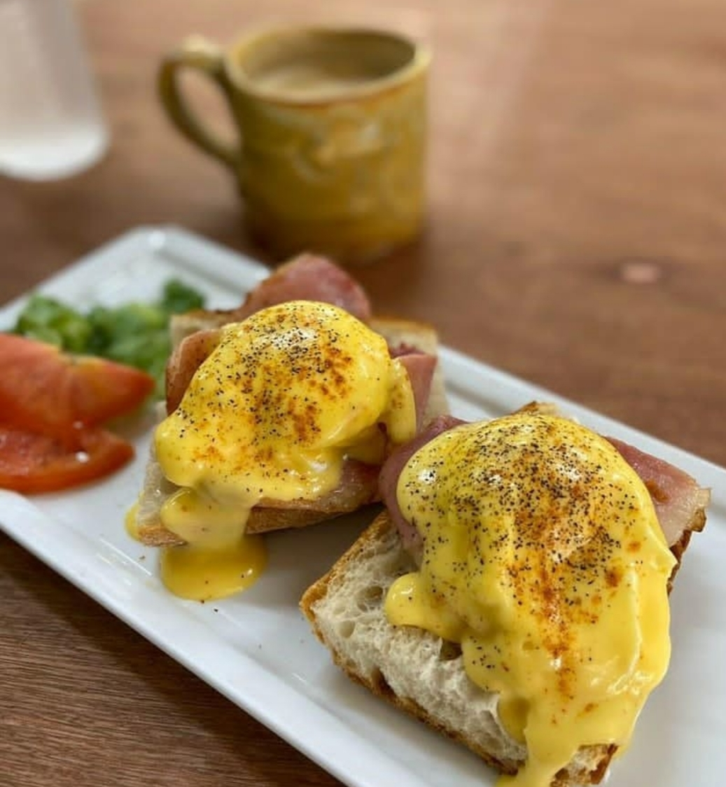 Classic Eggs Benny from Elini's Bakery Jamaica