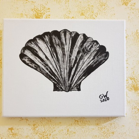"UNTITLED Decorative (8×10)"" Acrylic on Canvas"