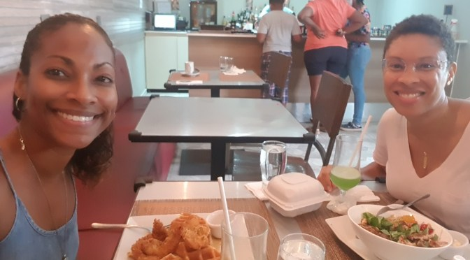 Suga Dines Out with one of her Suga Babies at Jamaica Liquor Warehouse!