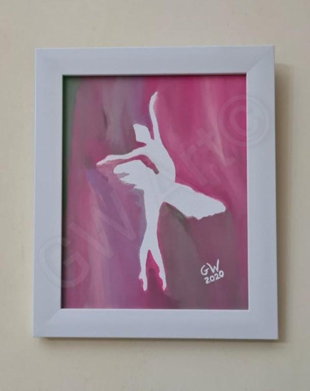 """Framed Acrylic on Framed ~(7×10)"""" Canvas"""