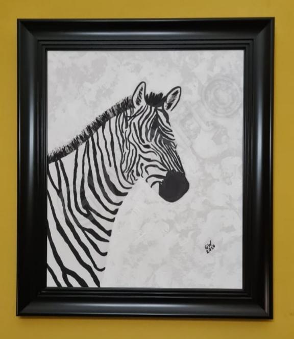 """Acrylic on Framed (19×24)"""" Canvas PRICE: $35,000JMD"""