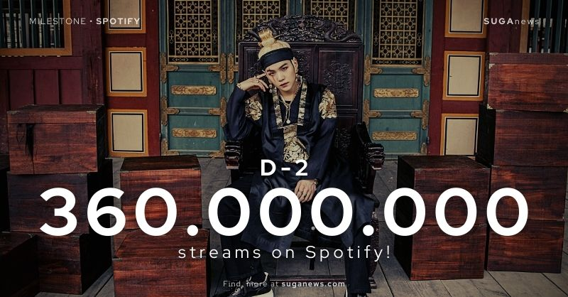 D-2 has surpassed 360 million streams on Spotify