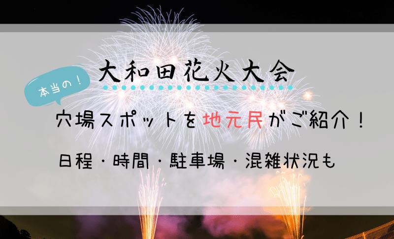 大和田花火大会穴場スポットを地元民がご紹介!日程・時間・駐車場・混雑状況も