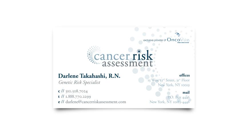 Cancer Risk Assessment Business Card
