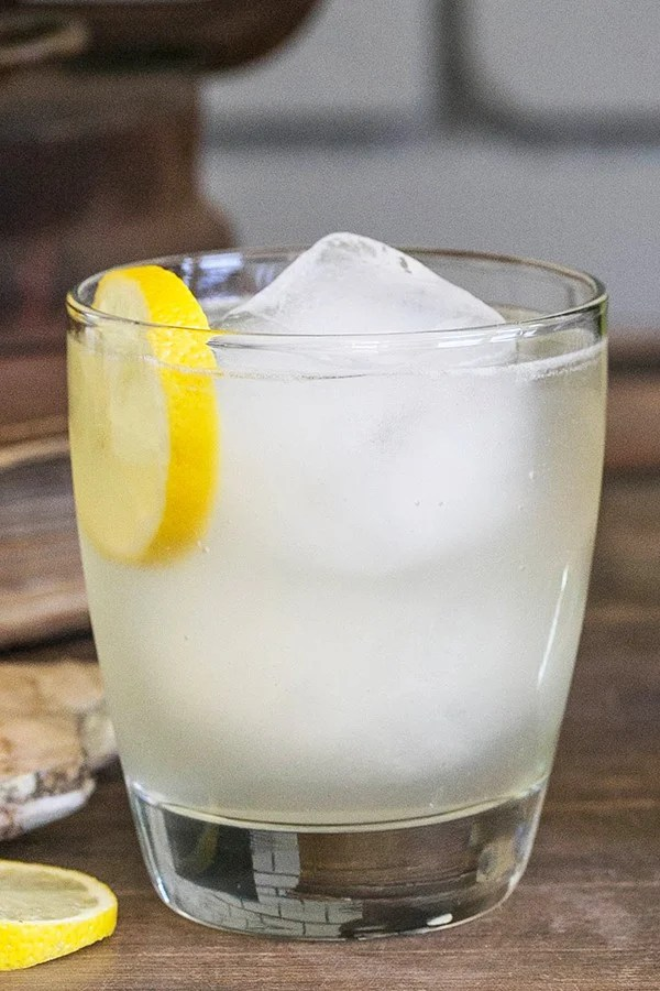 A refreshing ginger lemon white wine cocktail sugar for Cocktail recipes with white wine