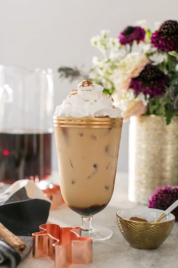 Gingerbread Cold Brew Latte