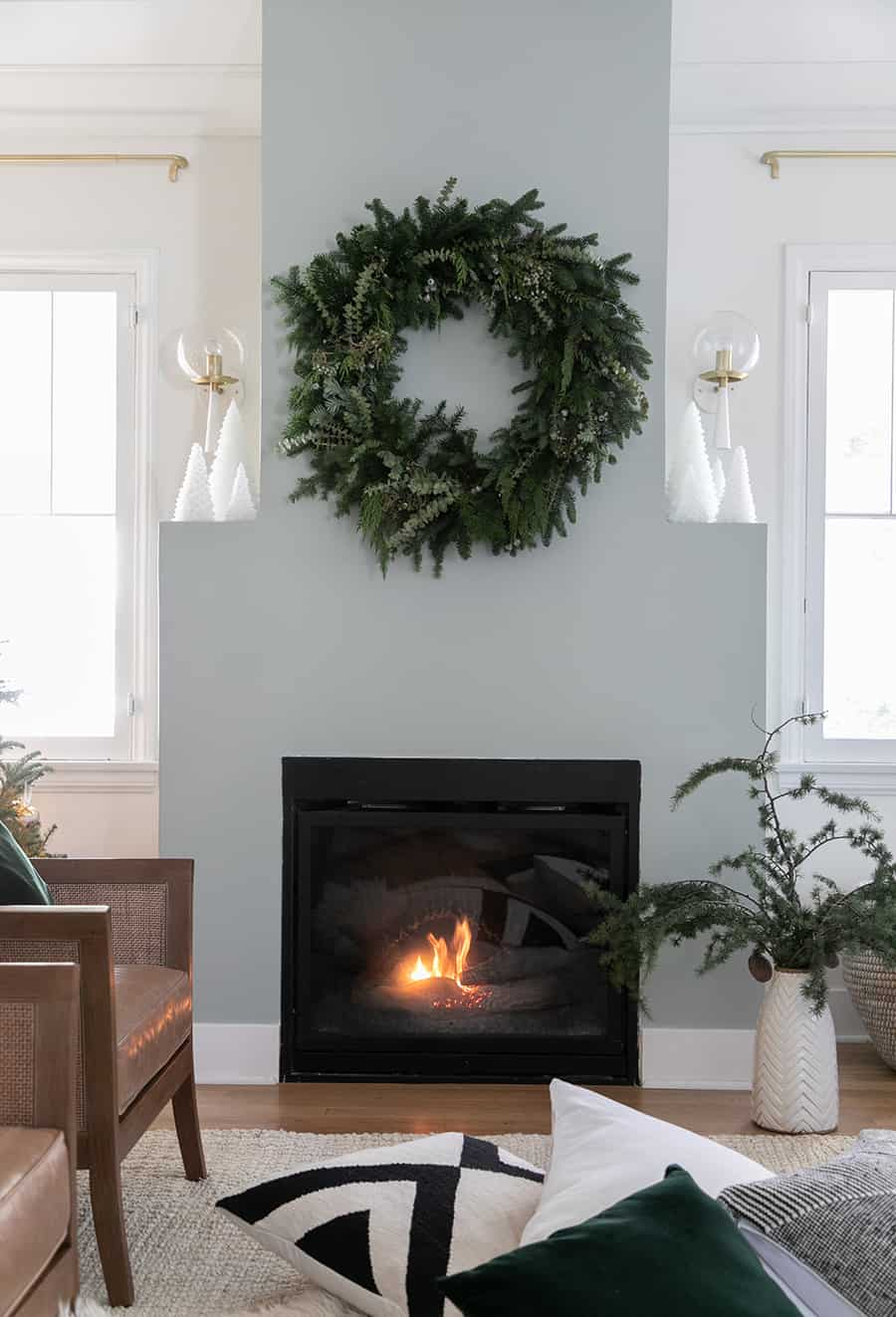 pictures of living room decorated for christmas light airy design decor sugar and charm it feels so warm cozy now we ve loved sitting by the fire every night with a movie on see my below