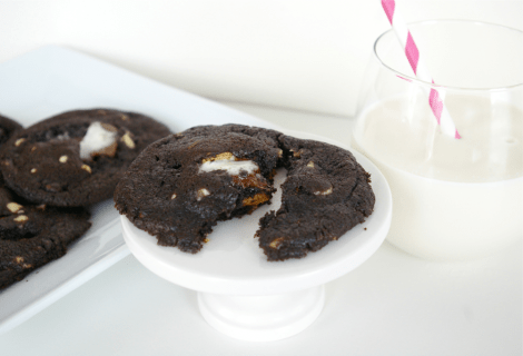 triple chocolate smores cookie recipe