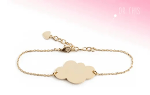 mini cloud golden bracelet giveaway