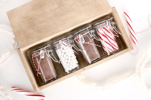DIY coffee stained gift box as a hostess gift