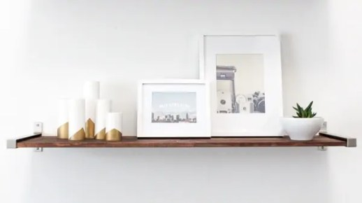 DIY distressed wood shelves
