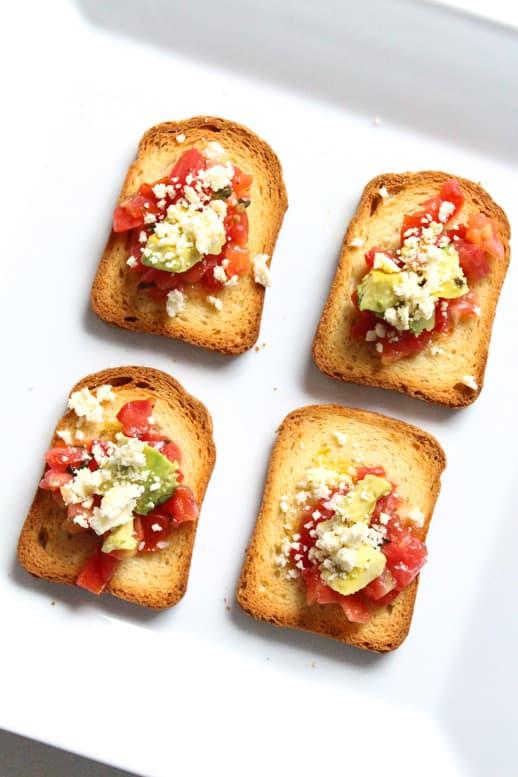 best 5 minute bruschetta you'll ever eat - Recipe - Sugar & Cloth - Houston Blogger