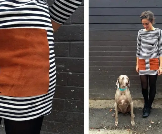 DIY Leather Pocketed Dress - Sugar & Cloth - DIY Accessories - Houston Blogger