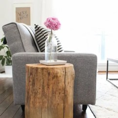 Diy Living Room Side Tables Chairs For Ombre Stump Sugar Cloth Houston Blogger Home Decor