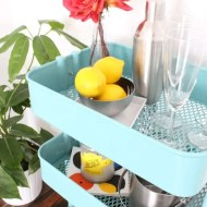 a budget friendly bar cart