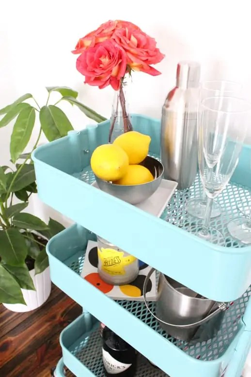 DIY Entertainment Cart & Coasters - Budget Friendly - Sugar & Cloth - Houston Blogger - Entertaining