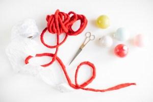 DIY color clock ornament garland