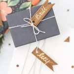 DIY Wood Veneer Confetti and Gift Tag Flags