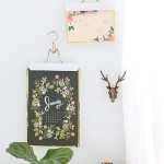 DIY Metallic Calendar Wall Hangs