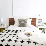 DIY ikea hack stikwod headboard - Sugar and Cloth