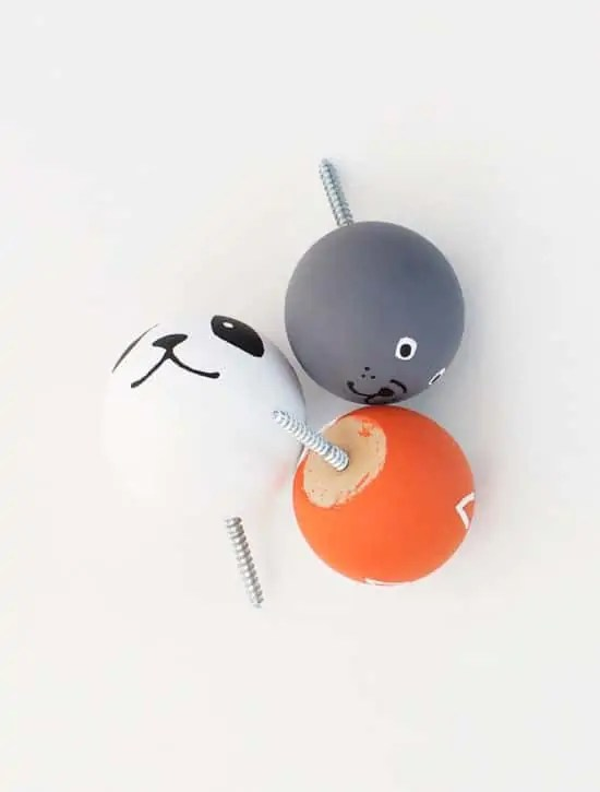 DIY animal knobs | sugarandcloth.com