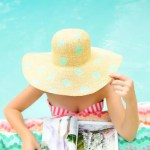 DIY Polka dot floppy hat