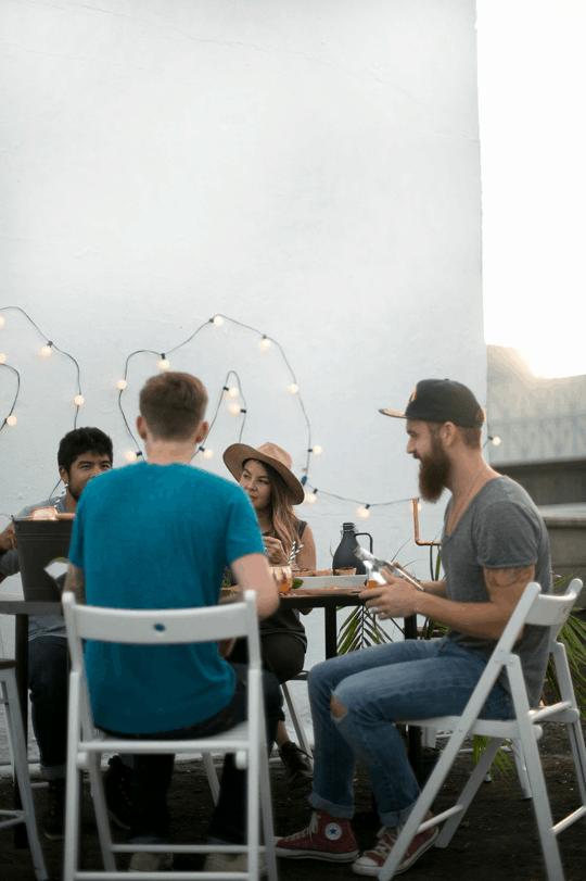 a DIY rooftop football watch party | sugarandcloth.com