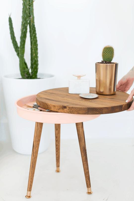 DIY mid century end table | sugar & cloth