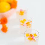 Edible Flower Lemon Jello Shot Recipe