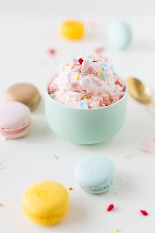 homemade macaron ice cream recipe    sugar & cloth