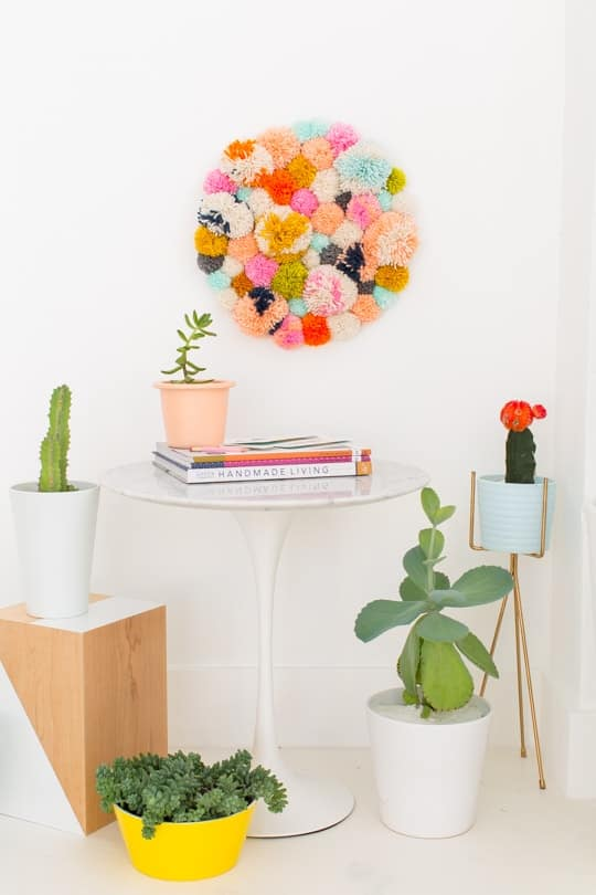 Diy Pom Pom Wall Hang Sugar Amp Cloth Home Decor Diy