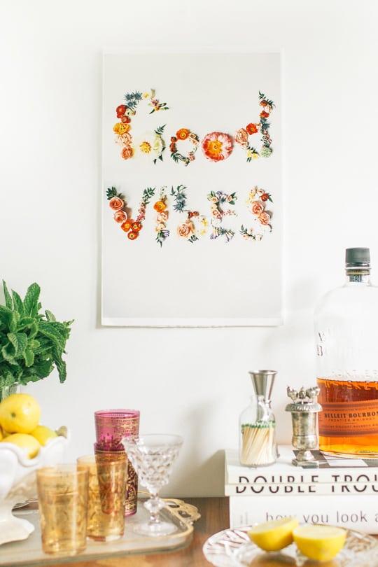 DIY flower artwork printables | sugar & cloth