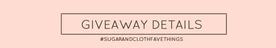 sugar and cloth giveaways #sugarandclothfavethings