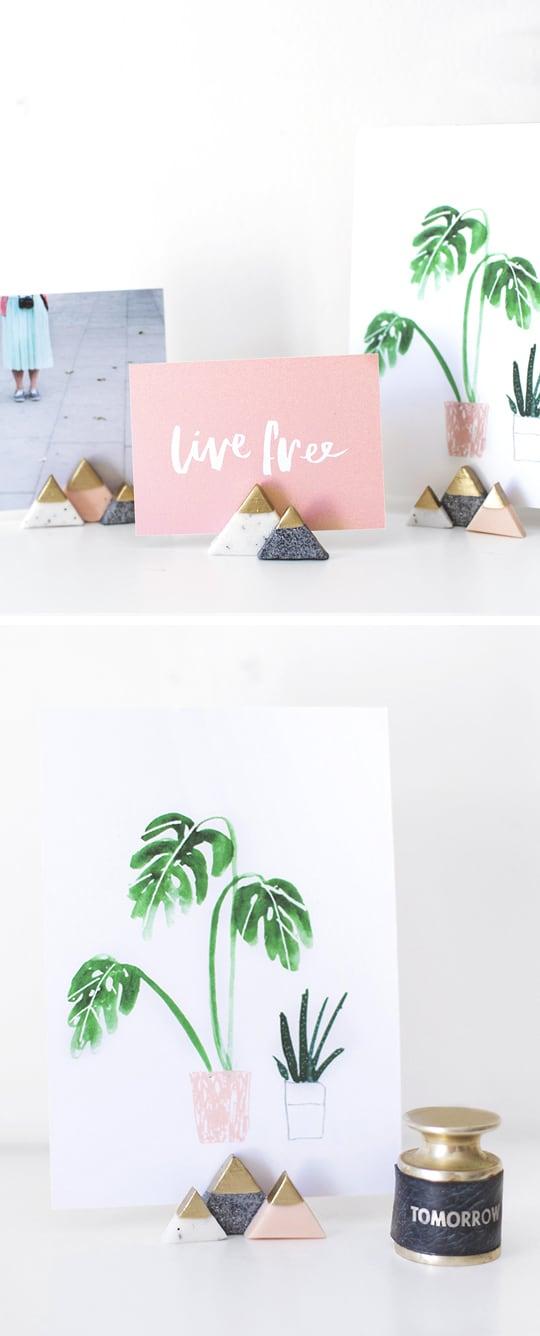 DIY mini mountain photo or card holders - sugar and cloth