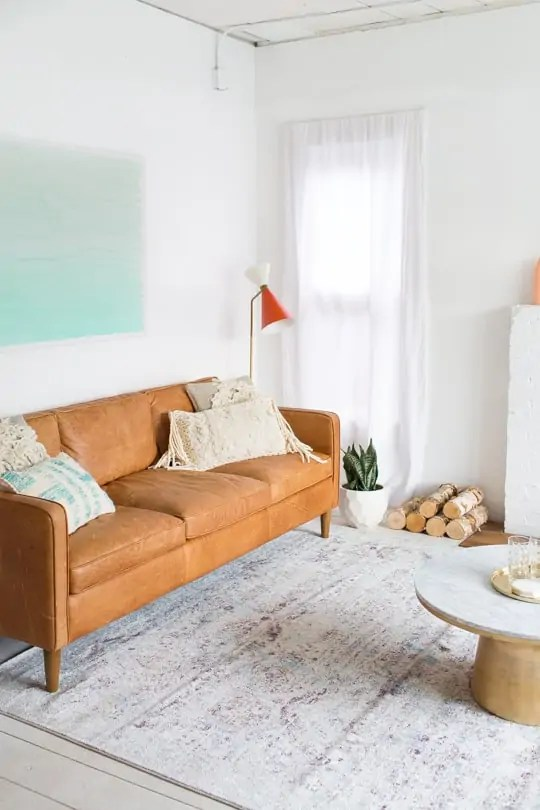 Living room makeover for Loloi Rugs Anastasia Collection at Montrose Shop - Sugar & Cloth