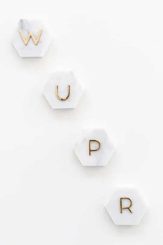 DIY Marble Hexagon Place Cards-8