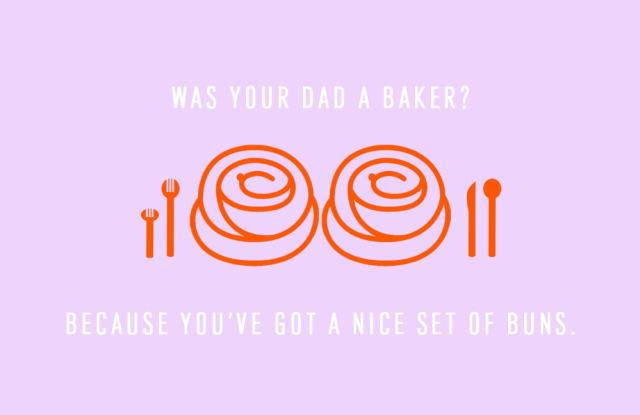 was your dad a baker because you've got a nice set of buns DIY funny printable Valentine's cards - sugar and cloth