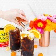 An orange spiced iced coffee recipe perfect for Spring & Summer - sugar and cloth