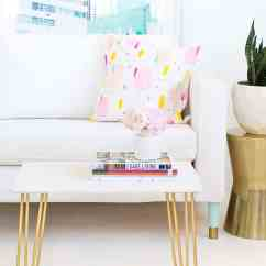 Diy Living Room Side Tables Sofas South Africa 2 Marble Table Top With Gold Accents Sugar Cloth And Home Decor Ideas