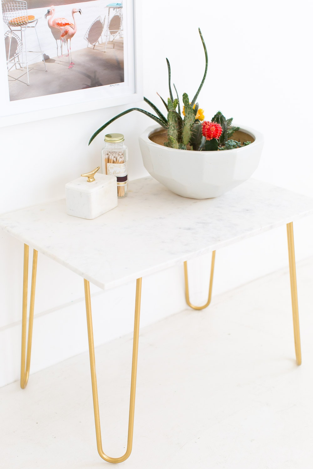 DIY Marble and Gold Accent TableSugarCloth