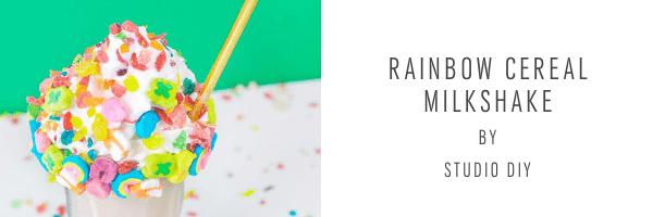 Rainbow milkshake recipe - studio diy - sugar and cloth