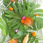 A Tropical DIY Floral Bar Cart Swag (+ Our DIY event in Dallas!)