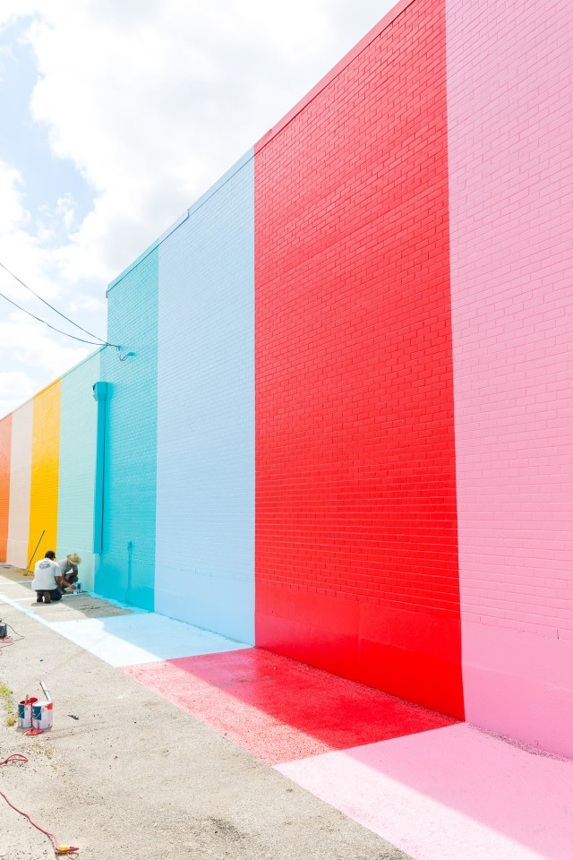 The Sugar Amp Cloth Color Wall In Houston Video Sugar
