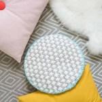 Modern DIY Oversized Cross-Stitched Cushion