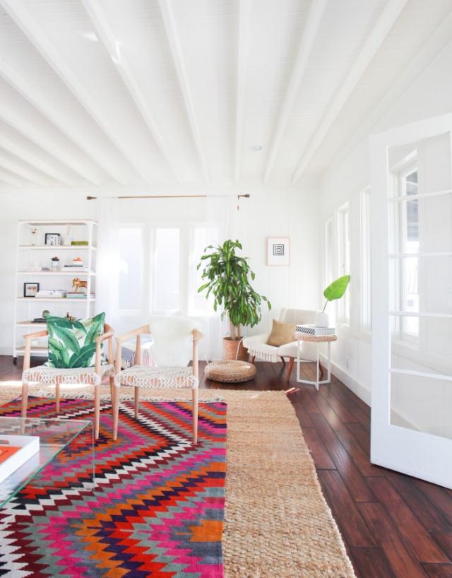 A bright beach house bungalow